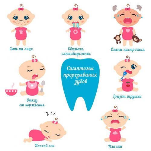 Зубы у детей порядок прорезывания: реакция организма