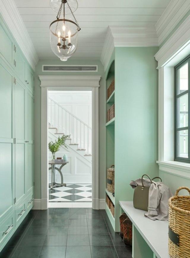 Интерьер детской комнаты в мятном цвете, идеи применения